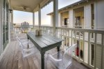 Enjoy Dining Outside on the 2nd Floor Balcony with Gulf Views