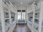 Built in twin size bunk beds in the 2nd floor den area.