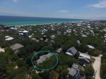 Conch Cottage aerial view June 2017