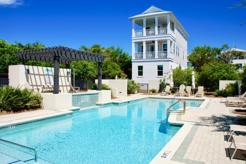 New 30A Inlet Beach Rental with Gulf Views Steps from Beach