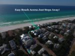 Aerial View show short distance to easy beach access