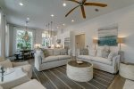New Coastal decor throughout with comfortable furnishings