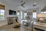 Coastal themed decor through out this spacious Carriage House