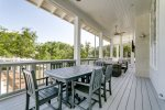Your family will enjoy the extensive porches overlooking the pool and spa