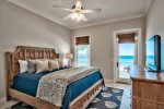 2nd floor Guest room with King size bed overlooking the gulf