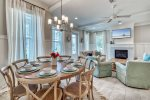 Savor your Gourmet Meal at the Dining Table with Seating for Eight