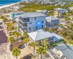 Aerial View of `Stone`s Throw Cottage - Effortless Beach Access