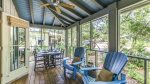 Take the party outside to the screened in porch