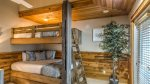 queen over queen custom bunk with trundle in carriage house