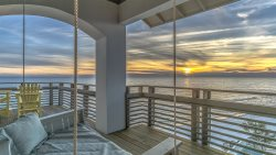 Newly Updated Luxury Beachfront House + Carriage House, Sleeps 21 Gulfview Spa, Heated Pool, Elevator