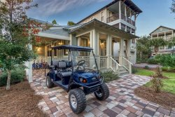 30A Seagrove Beach Vacation Rental with Community Pool, PET FRIENDLY, 6 seater Golf cart included! +4 bikes!