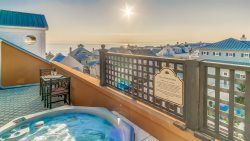 Penthouse Rosemary Beach Condo with Rooftop Hot Tub, Gulf Views, Free Bikes, Heart of Downtown