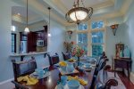 Beautiful dining area for family meals