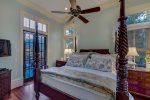 Stunning 4 poster bed with plush linens