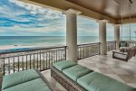 Furnished with soaking tub, walk-in shower & dual vanities
