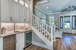 1st Floor Wet Bar - Featuring a Wine/Beverage Cooler & Ice Maker