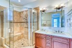 1st Floor Master Suite - Featuring an Over-sized Glass Enclosed Shower