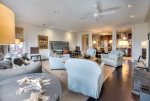 Rosemary Beach-Another view of the living, dining and kitchen.