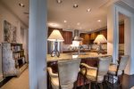 Rosemary Beach-The large island in the kitchen with additional seating.