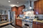 Rosemary Beach-The large, open kitchen with high-end appliances.