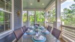 Screened-in Porch Makes for a Peaceful Outdoor Meal