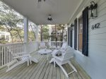 Enjoy breakfast and/or coffee on this picturesque porch.