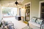 Seacrest Beach - Front porch with seating and fan