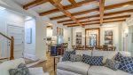 Beautiful beams accent the high ceilings