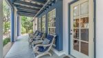Keep cool in the shade of the spacious porch
