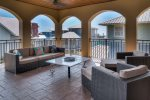 3rd Floor Veranda - Offering a Summer Kitchen & Peek a boo Gulf Views