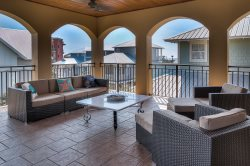 Seacrest Beach Vacation Rental Home Loaded with Over-sized Third Floor Veranda + Gulf Views+ Elevator