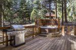 Deck with Private Hot Tub and Gas BBQ