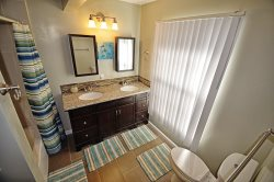 The master bath with dual vanities