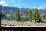 Gull Lake and Sierra views from the deck