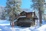 Winter at the Gull Lake Custom Craftsman. Vehicles with 4x4 or chains may be required in the winter.
