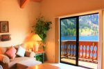 Relax with alpine lake views