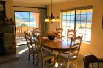 Dining area with views of meadows, mountains and Gull Lake