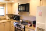 Upgraded kitchen with small flat screen. Relax, cook and catch up om yoru favoirte shows.