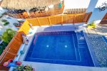 Your private swimming pool on the rooftop terrace
