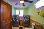 Large washer and dryers in the master bathroom