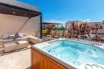Private roof deck with Jacuzzi