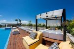 Rooftop pool & lounge area