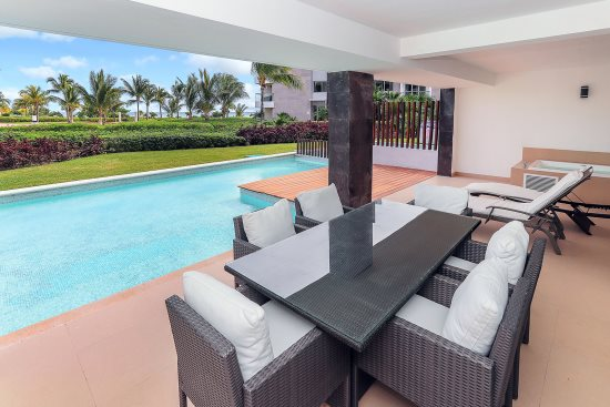 Your private patio with personal plunge pool and ocean view