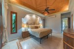 Master suite with king bed and private patio