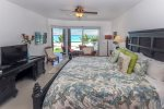 Master suite with king bed and ocean view