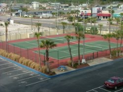 Regency Towers has two tennis courts