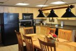 Large comfortable dining area. New granite in kitchen.