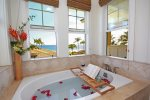 The Master Bath has a Tub with a View