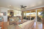 Living Room and Lanai with Beautiful Ocean Views