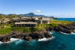 There is a Sea Walk to Shipwreck`s Beach and the Grand Hyatt Kauai